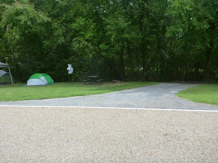 Tyler Bend Main Loop #3-2Site #3 is a 35' back-in site, no tent pad.