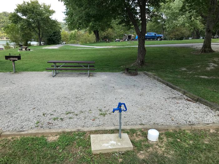 OBEY RIVER PARK SITE # 34 WATER SPIGOTOBEY RIVER PARK SITE # 34 WHITE CAP IS WATER VALVE, NOT SEWER
