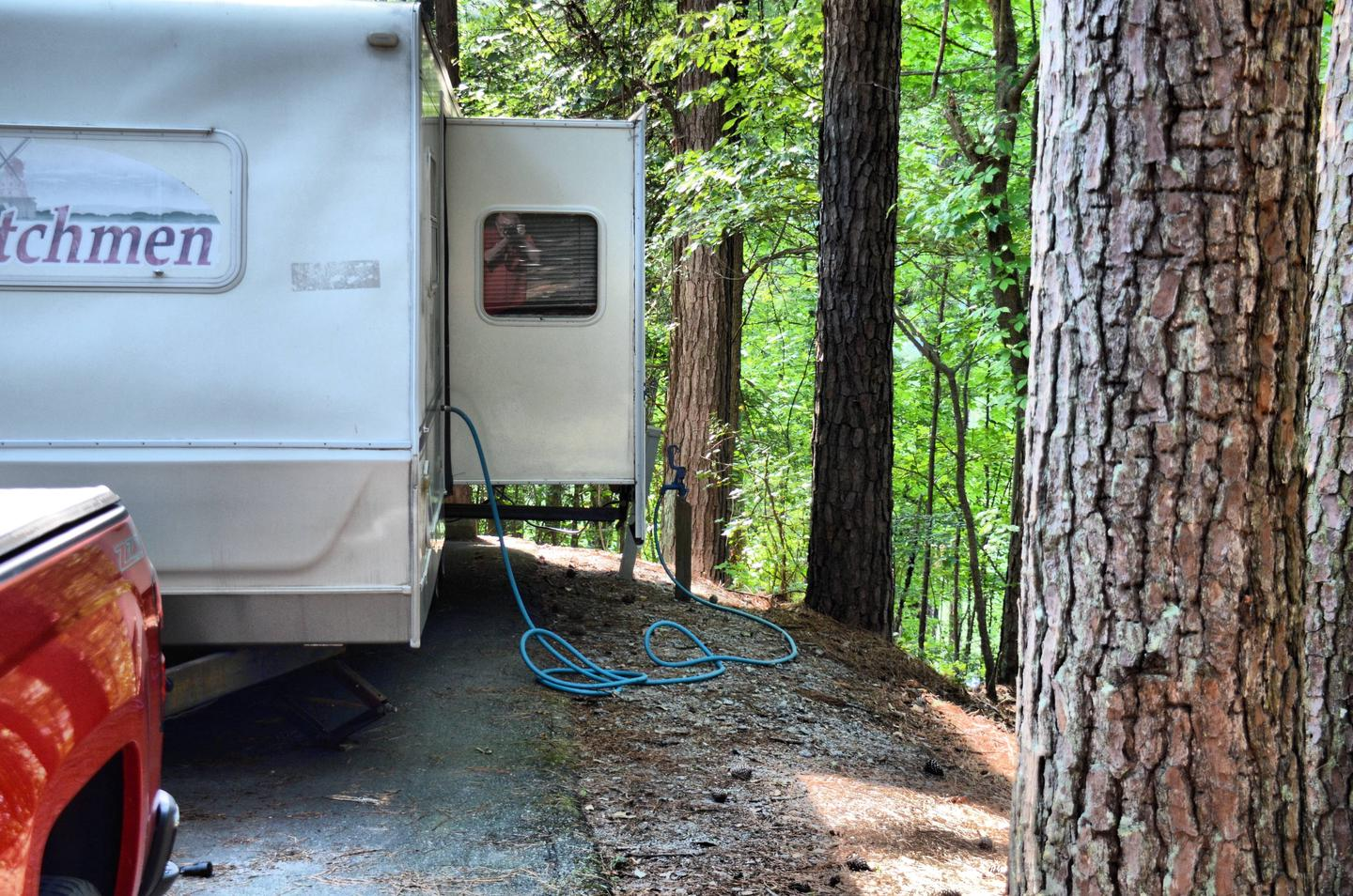 Utilities-side clearance.Payne Campground, campsite 37.