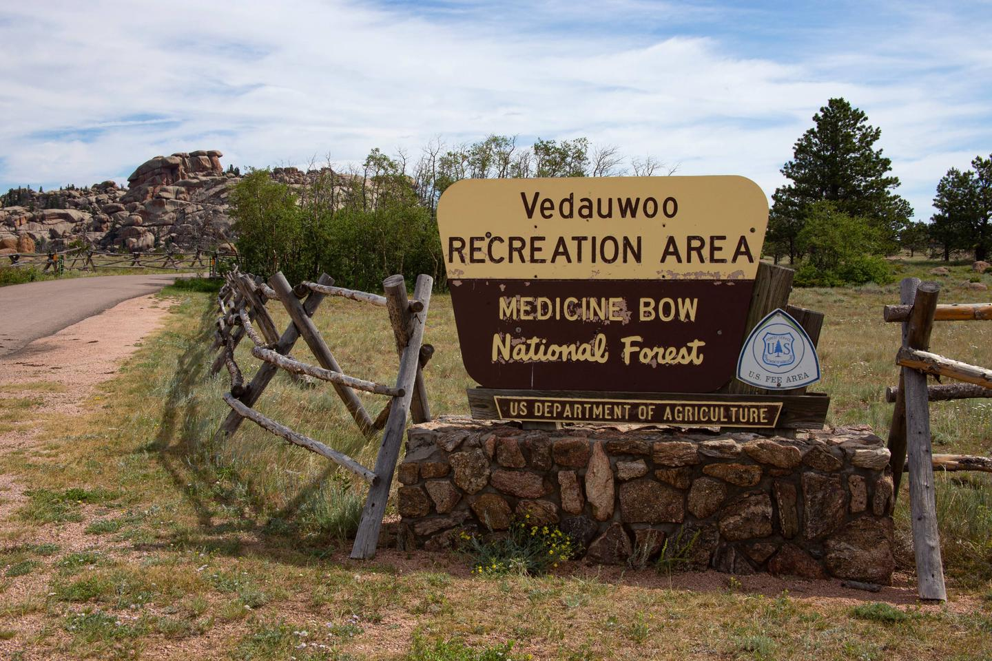 Vedauwoo Recreation Area entrance