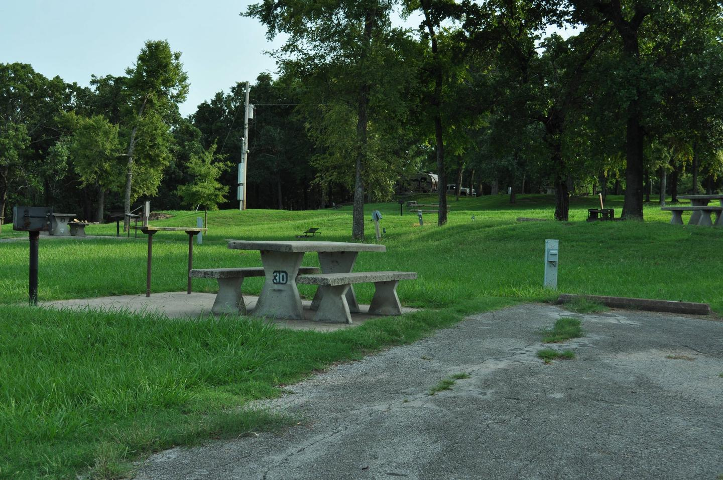 Site 30 is near site 29, 62 & 63 and works will for families camping close together.Site 30 - Taylor Ferry