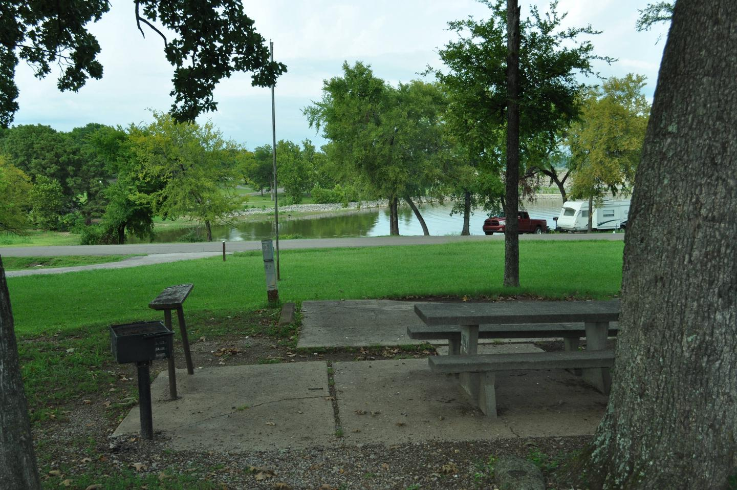 Site 63 offers a nice view of Fort Gibson Lake.Site 63 - Taylor Ferry