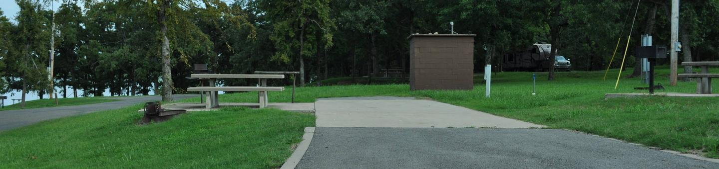Site 64 is a pull through campsite located near the restroom/shower buildingSite 64 - Taylor Ferry