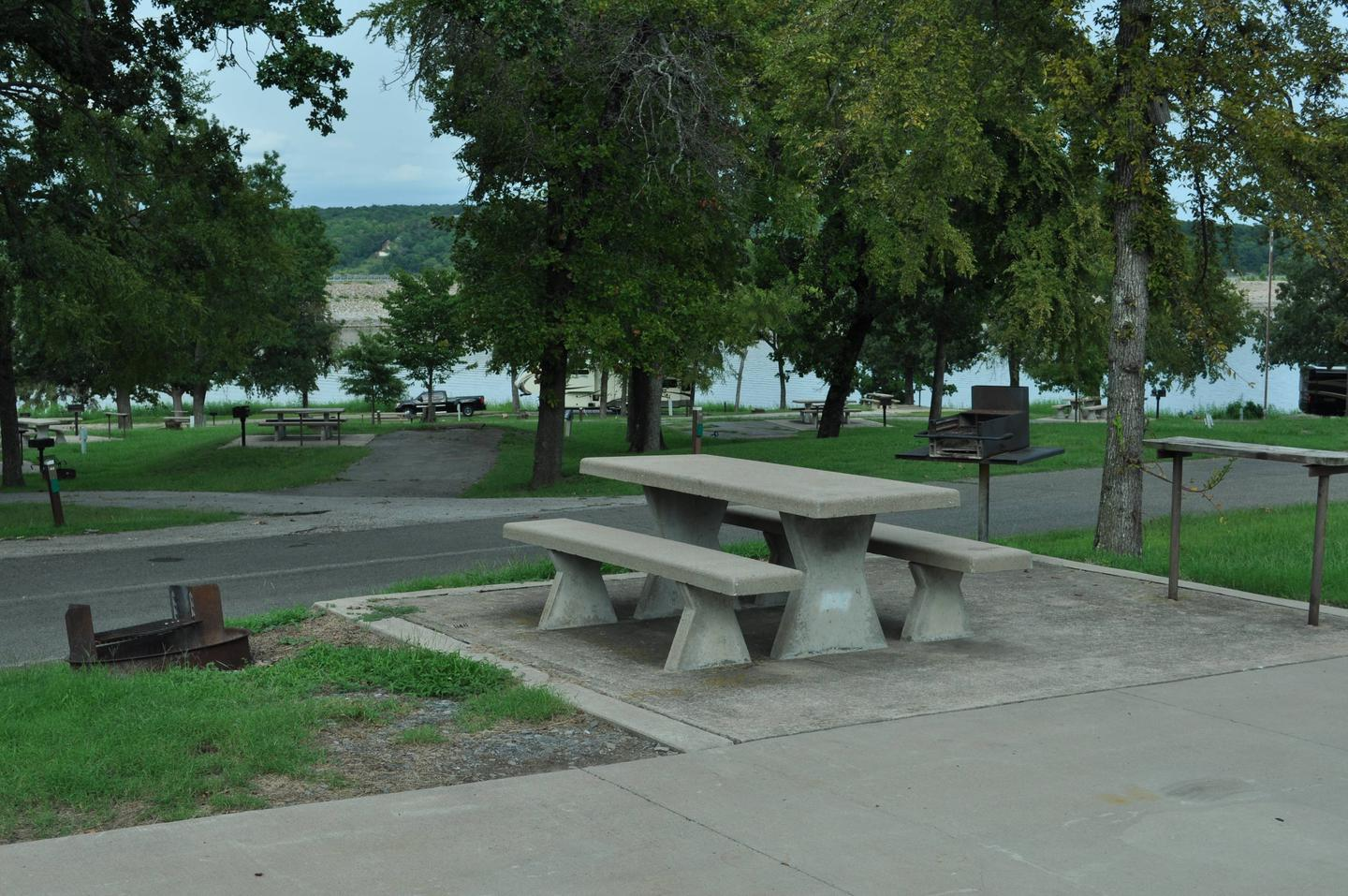 Site 64 is an elevated site that overlooks the lower section of the campground.Site 64 - Taylor Ferry