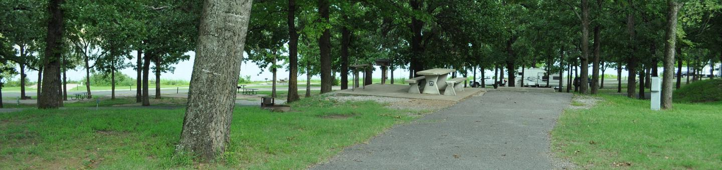 Site 77 is located on the upper road and overlooks the lower section of the campground.Site 77 - Taylor Ferry