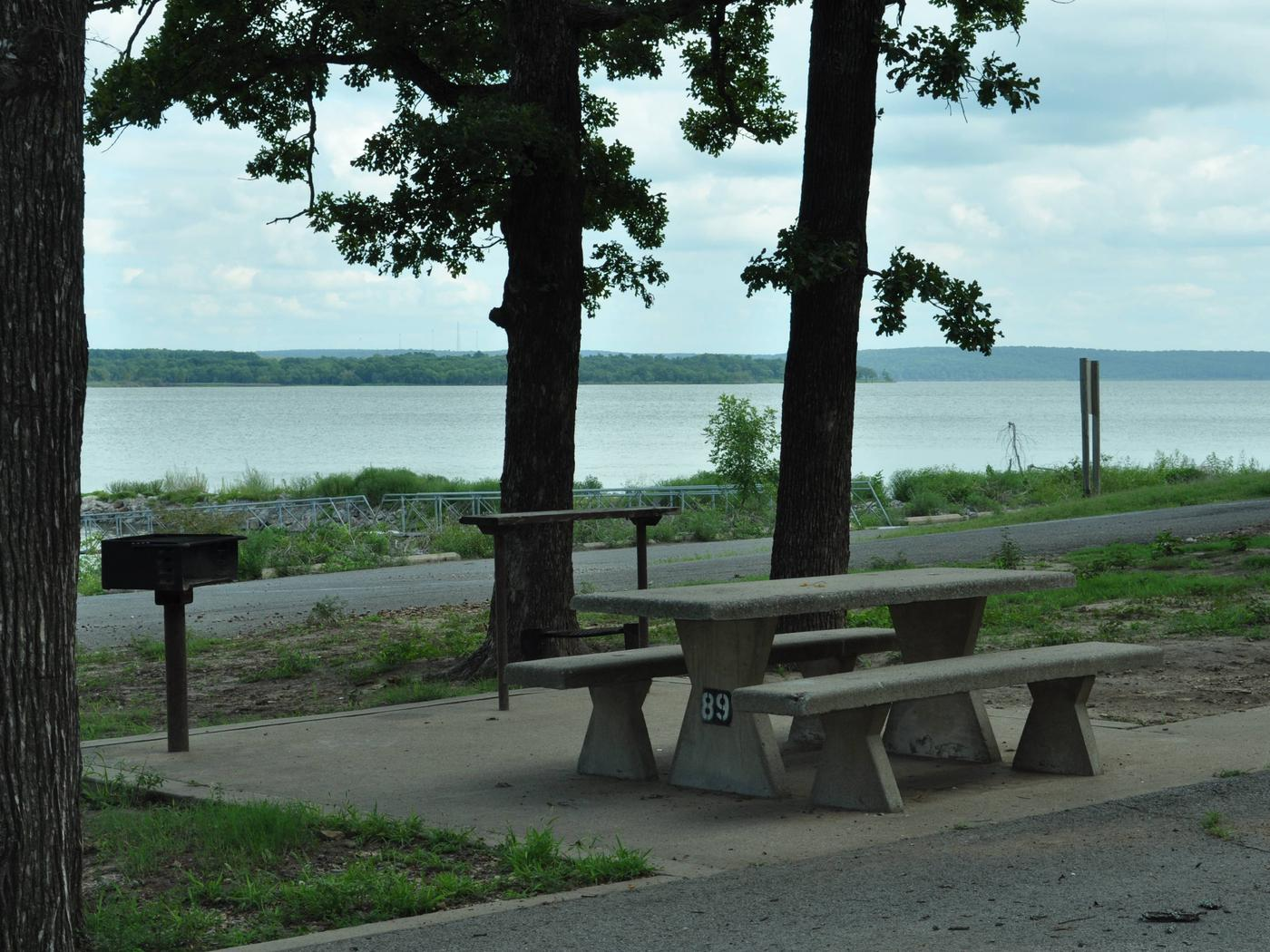 Site 89 offers a fantastic view of Fort Gibson Lake.Site 89 - Taylor Ferry