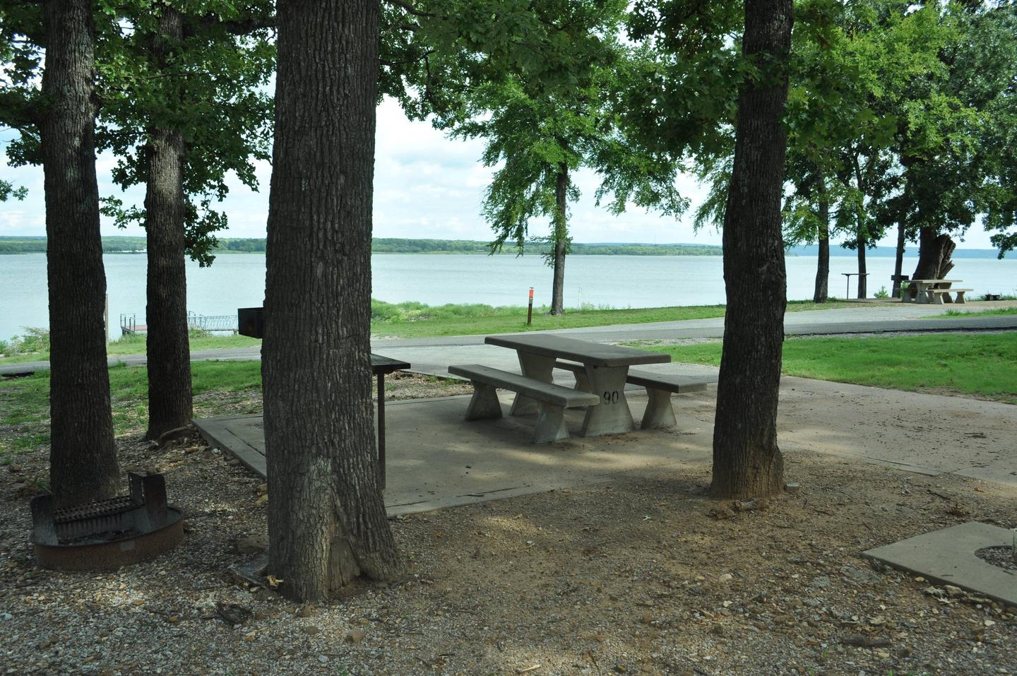Site 90 has great view of the lake and easy access to the boat ramp and courtesy dock.Site 90 - Taylor Ferry
