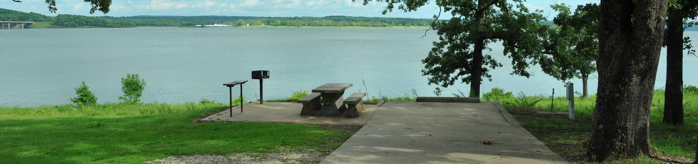 Site 95 offers a great lake view for smaller trailers and RVs.Site 95 - Taylor Ferry
