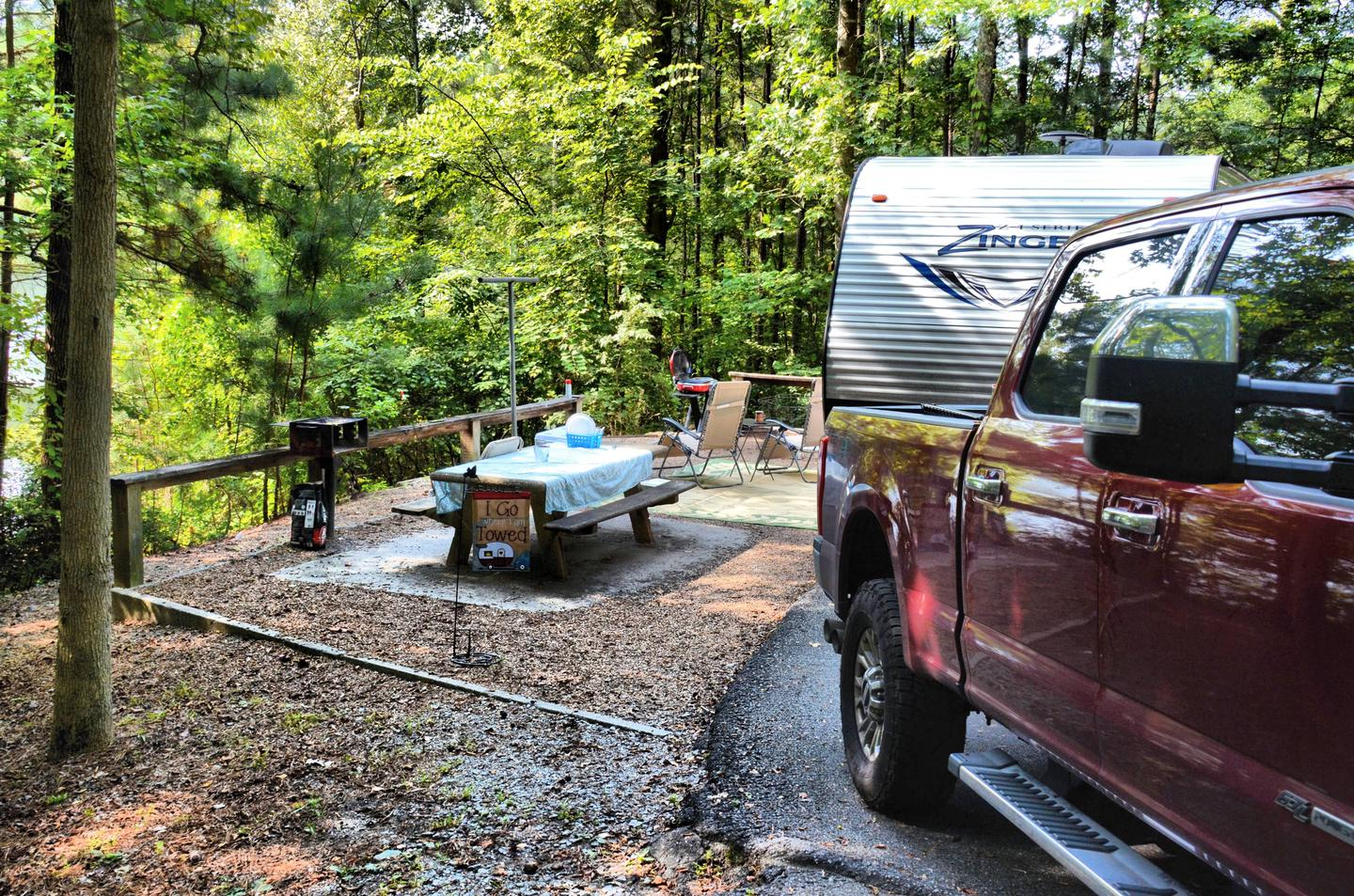 Awning-side clearance, campsite view.Payne Campground, campsite 42.