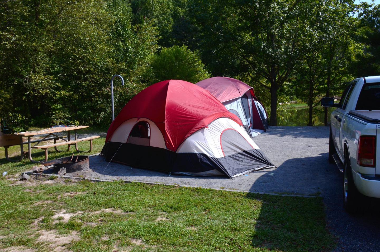 Campsite view.Payne Campground, campsite 45.