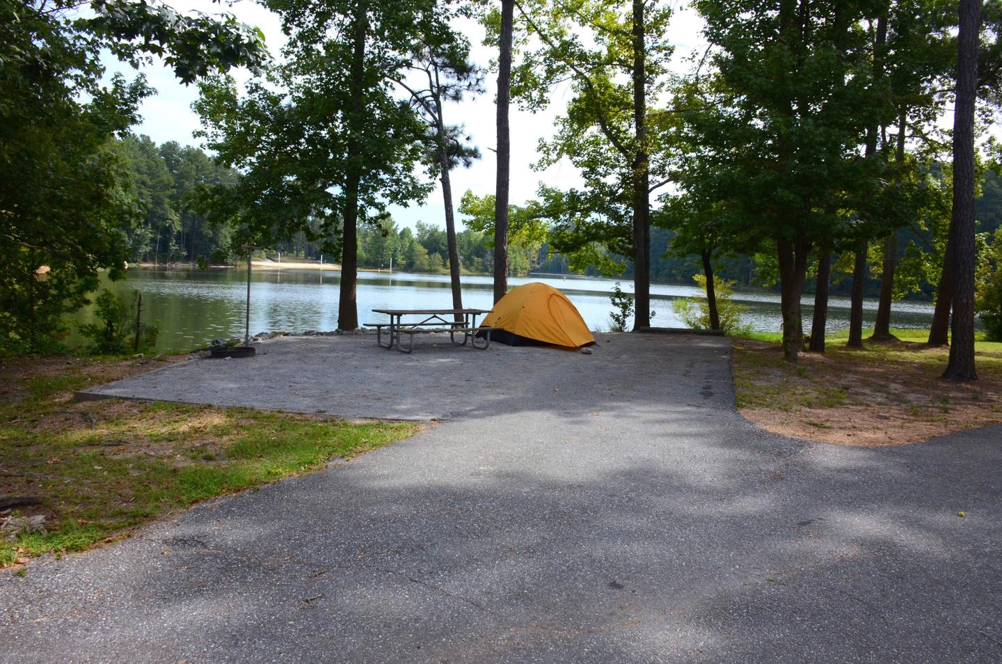 Driveway slope, awning-side clearance, utilities-side clearance.Payne Campground, campsite 46.