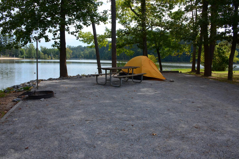 Campsite view.Payne Campground, campsite 46.