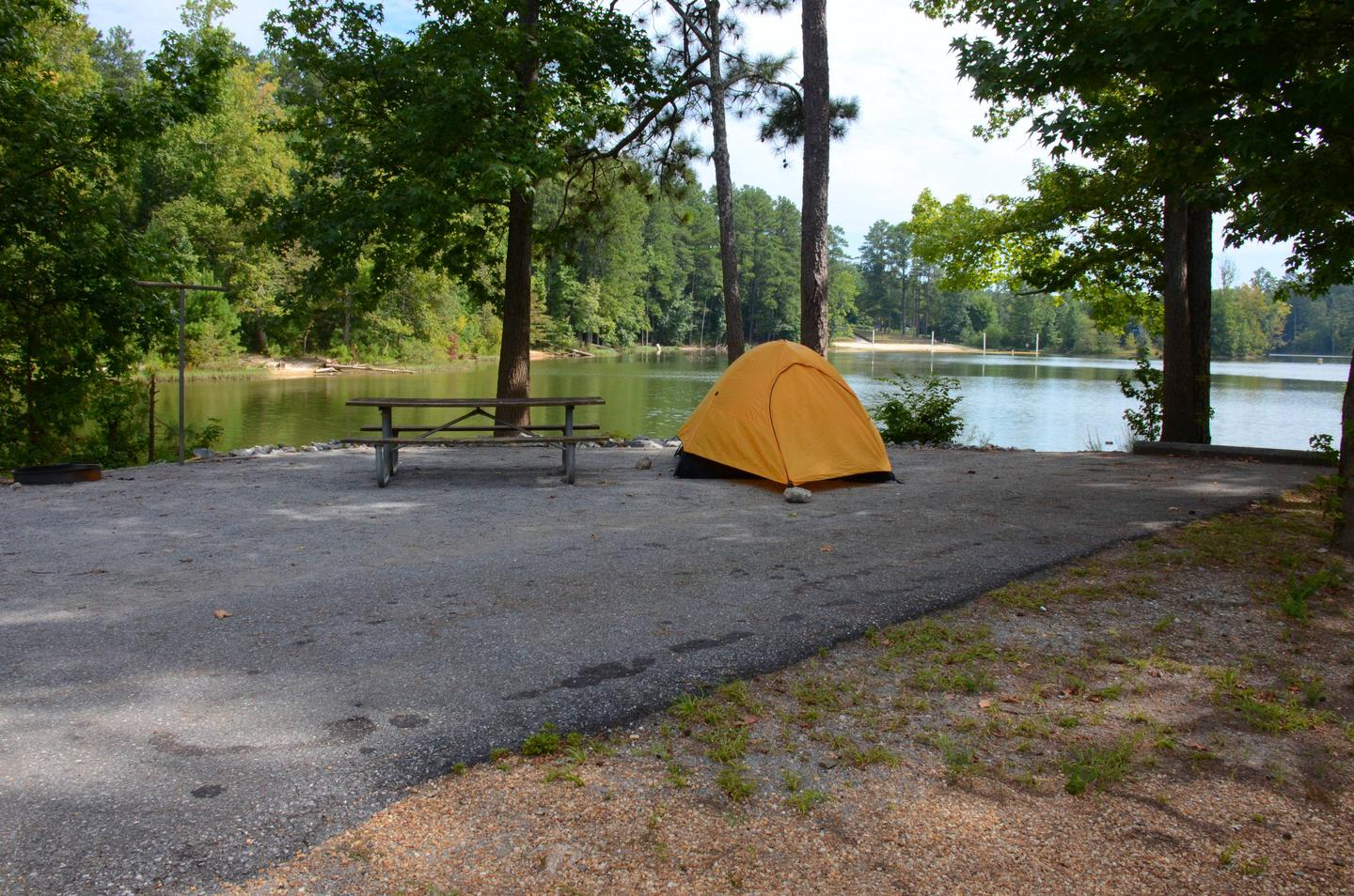 Driveway, campsite view.Payne Campground, campsite 46.