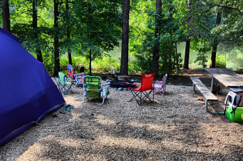 Campsite view.Payne Campground, campsite 50.