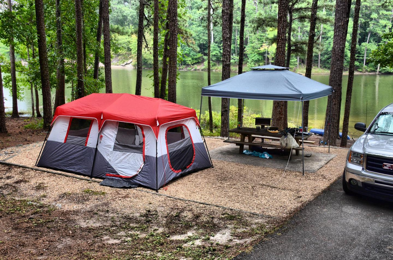 Campsite view.Payne Campground, campsite 51.