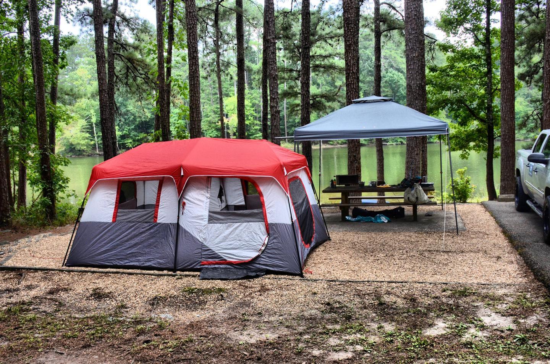 Campsite view-2.Payne Campground, campsite 51.