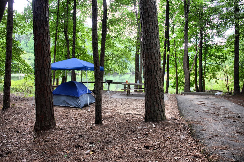 Campsite view-2.Payne Campground, campsite 53.