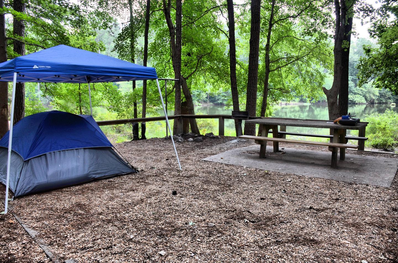 Campsite view-3.Payne Campground, campsite 53.