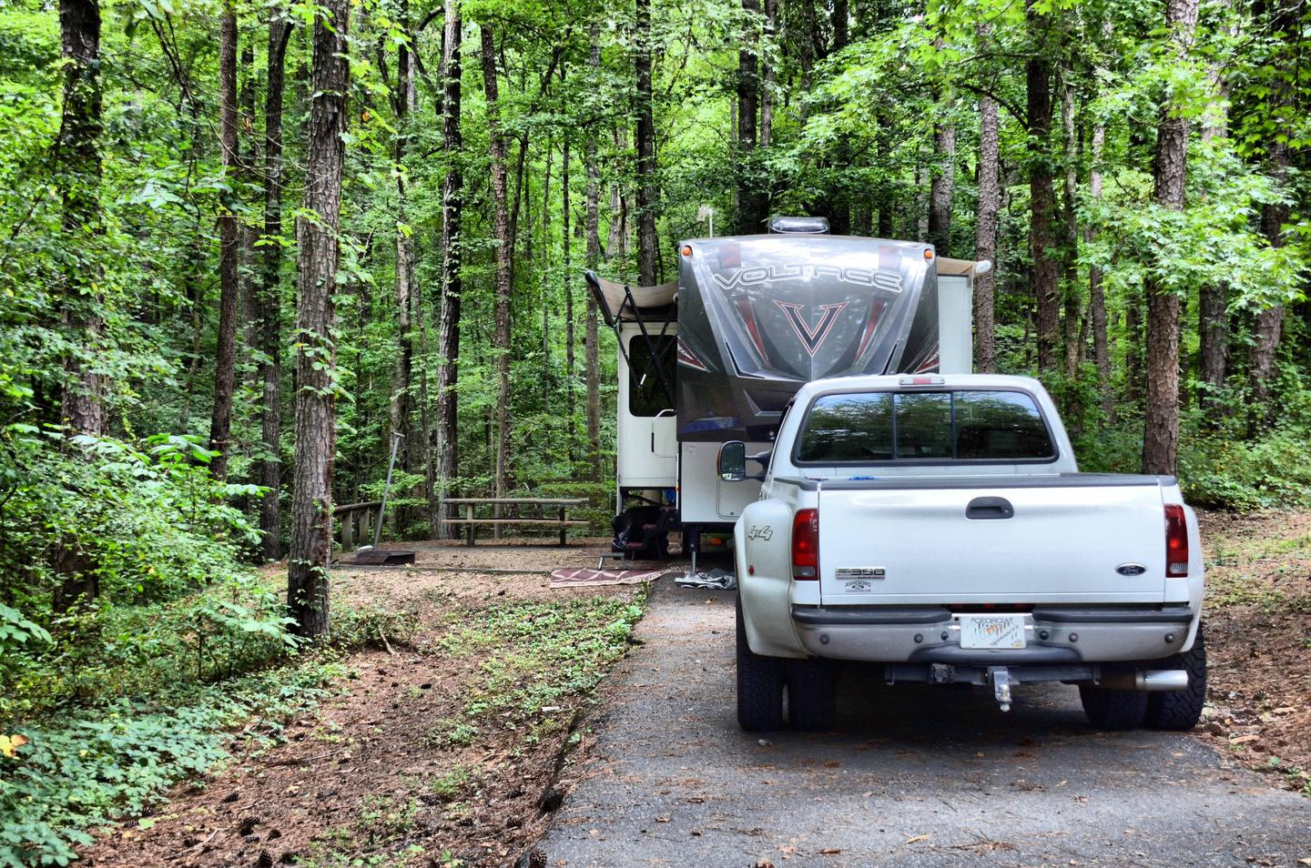 Awning-side clearance.Payne Campground, campsite 55.