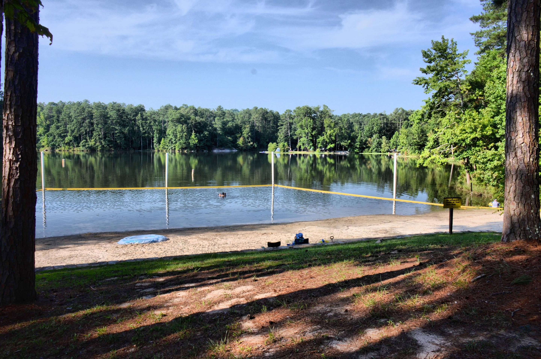 Payne Campground swimming beach.