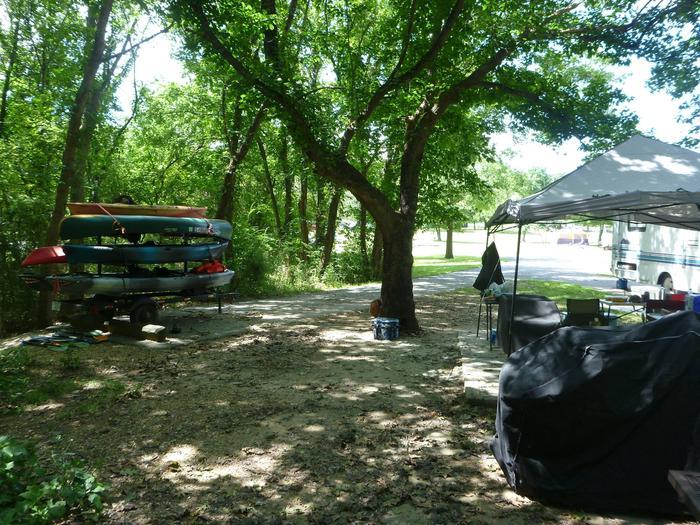 Tyler Bend Main Loop Site#9-2 Site#9, 54' back-in, tent pad 15' x'15'.