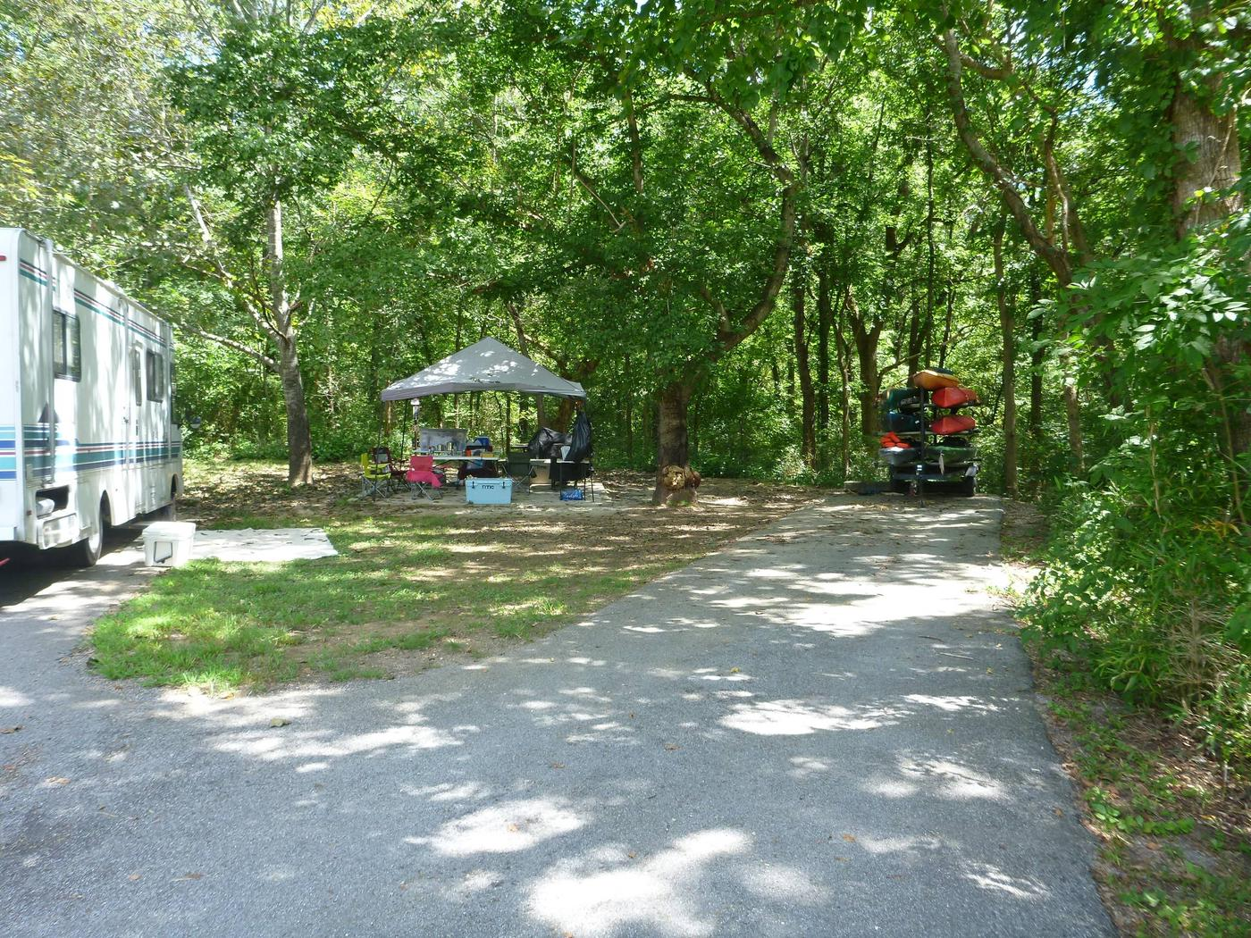 Tyler Bend Main Loop Site#9-5 Site#9, 54' back-in, tent pad 15' x'15'. ( on right side of picture)