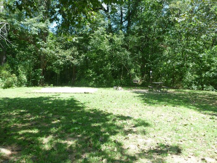 Tyler Bend Main Loop Site#10-3Site#10, 43' back-in, tent pad 15' x 15'.