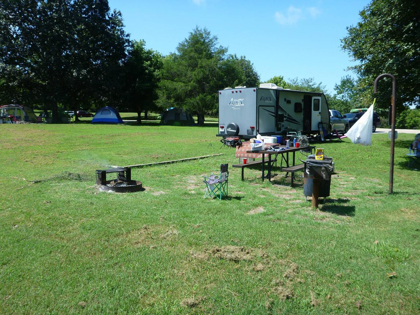 Tyler Bend Main Loop Site# 16-2Site #16, 58' back-in, tent pad 15' x 15'.