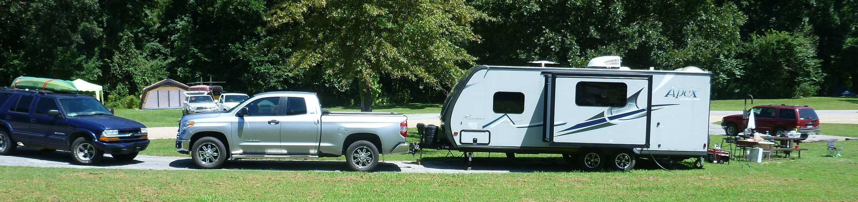 Tyler Bend Main Loop Site# 16Site #16, 58' back-in, tent pad 15' x 15'.