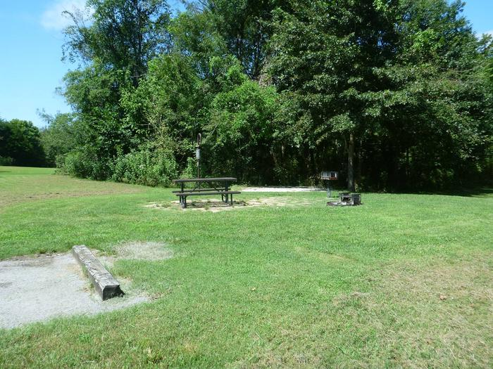 Tyler Bend Main Loop Site# 17-1Site #17, 65' back-in, tent pad 15' x 15'.