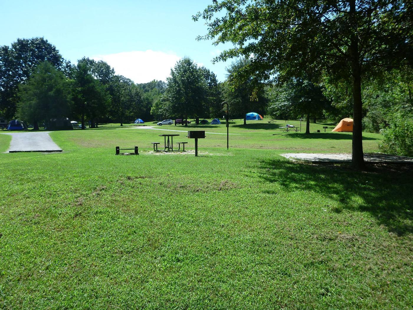 Tyler Bend Main Loop Site# 17-4Site #17, 65' back-in, tent pad 15' x 15'.