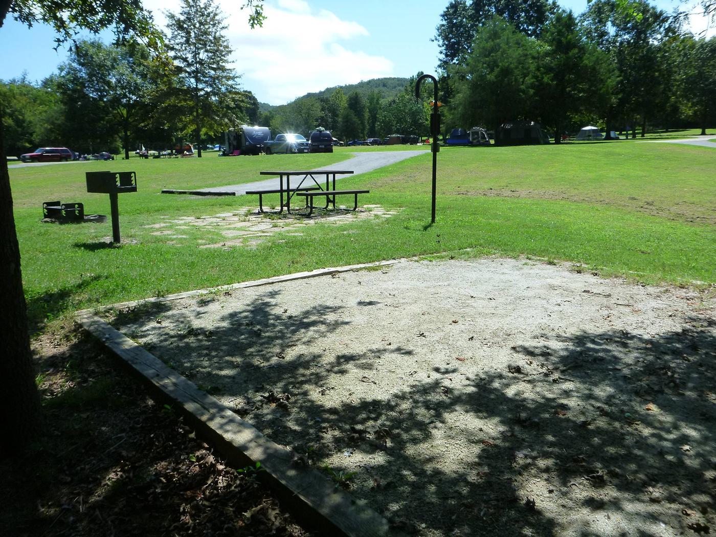 Tyler Bend Main Loop Site# 17Site #17, 65' back-in, tent pad 15' x 15'.
