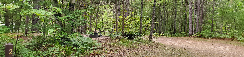 Island Lake site #02 full campsite view