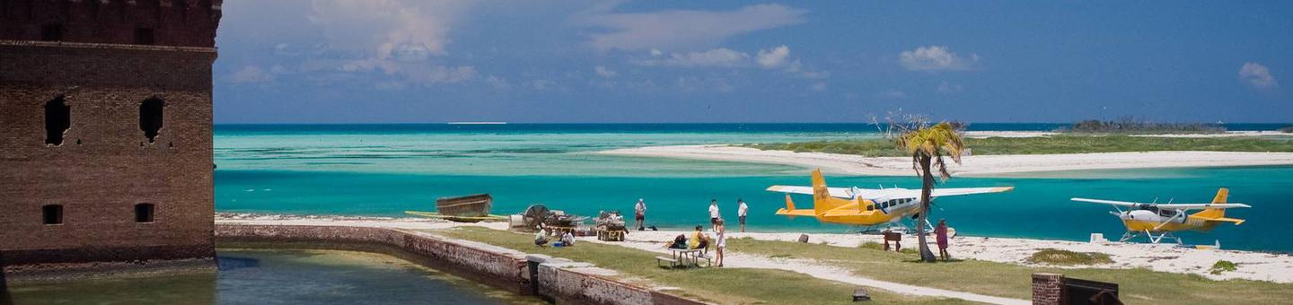 Dry Tortugas National ParkA view of the ocean from Fort Jefferson on Garden Key, Dry Tortugas National Park
