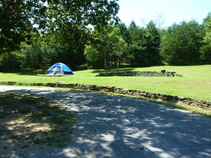 Tyler Bend Main Loop Site# 22-2Site #22 is a pull-through site that is 105', tent pad 15' x 15'
