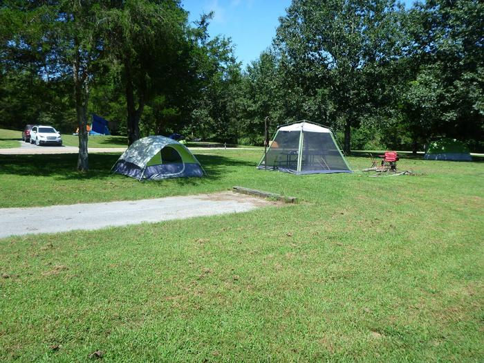 Tyler Bend Main Loop Site #23-1Site# 23, 50' back-in, tent pad 15' x 15'