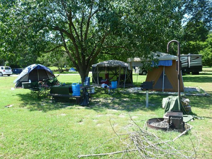 Tyler Bend Main Loop Site# 26-3Site #26, 53' back-in, tent pad 15' x 15'