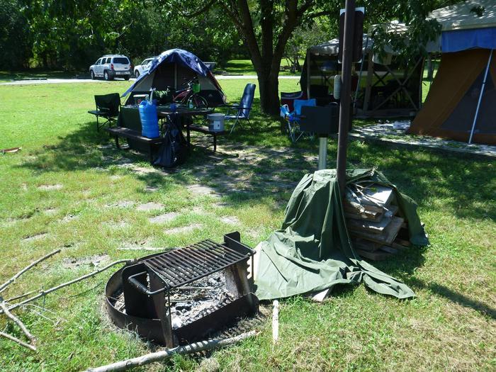 Tyler Bend Main Loop Site# 26-5Site #26, 53' back-in, tent pad 15' x 15'