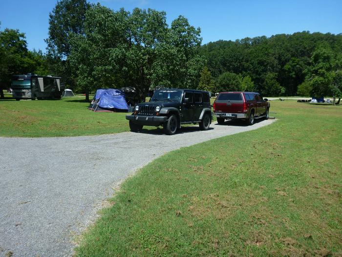 Tyler Bend Main Loop Site# 26-7Site #26, 53' back-in, tent pad 15' x 15'