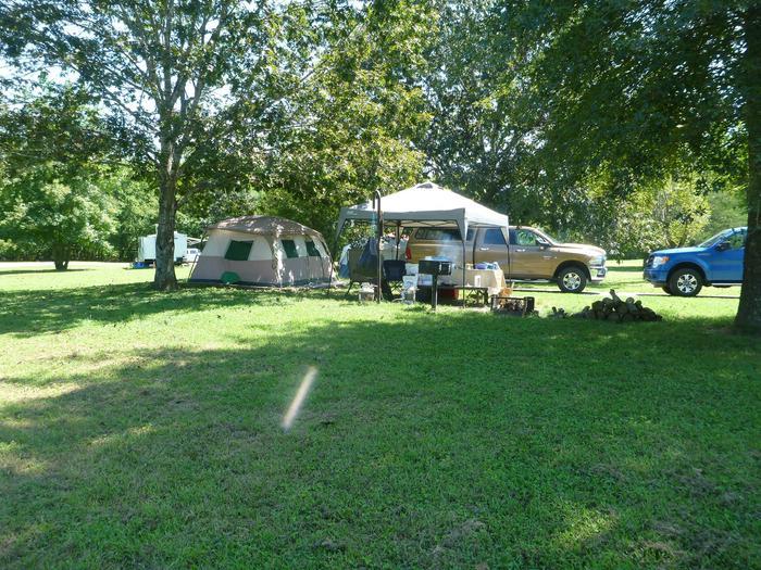 Tyler Bend Main Loop Site# 27-1Site# 27, 45' back-in', tent pad 15' x 15'