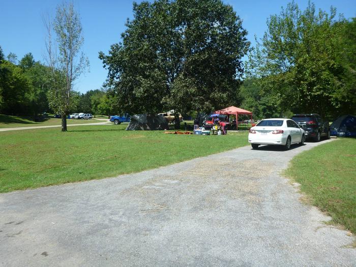 Tyler Bend Main Loop Site# 28-2Site# 28, 70' back-in, tent pad 15' x 15'
