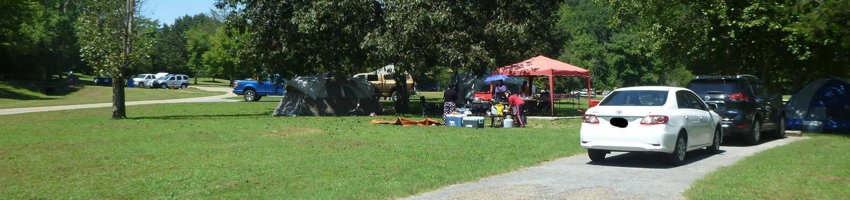 Tyler Bend Main Loop Site# 28Site# 28, 70' back-in, tent pad 15' x 15'