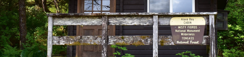 Alava Bay Cabin SignAlava Bay Cabin Deck and Sign