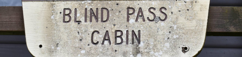 Blindpass Cabin Sign