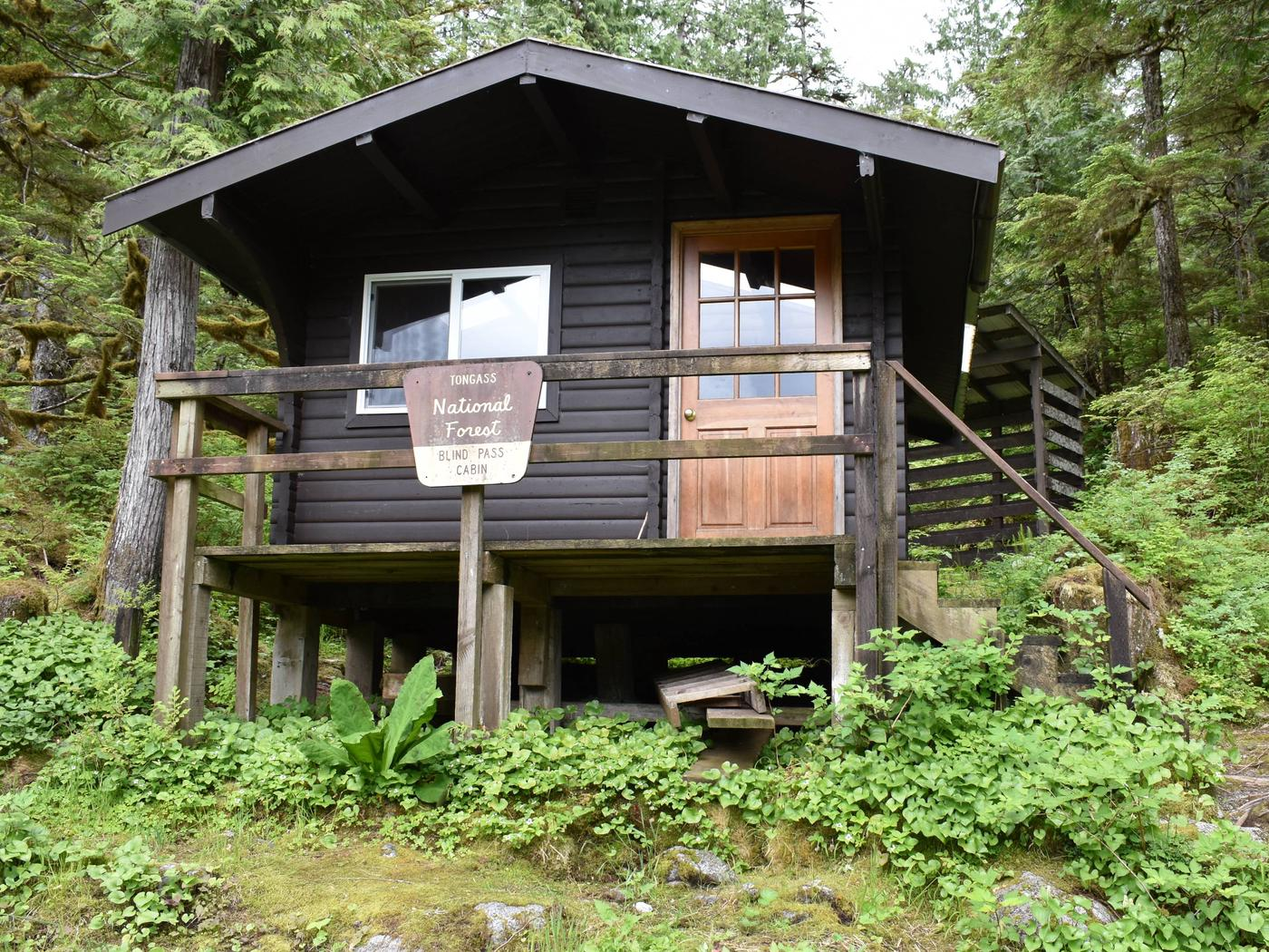 Blindpass Cabin from Front