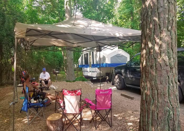 Campsite view.Victoria Campground, campsite 01.