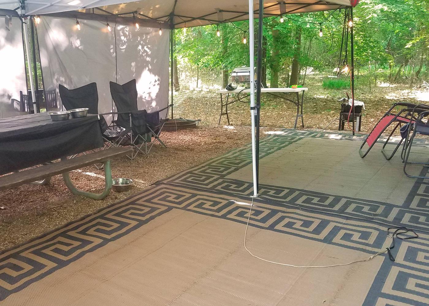 Campsite view.Victoria Campground, campsite 02.