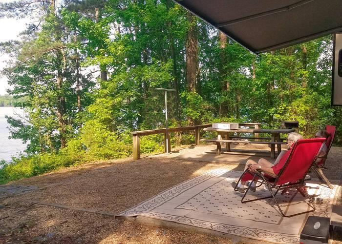 Campsite view.Victoria Campground, campsite 13.