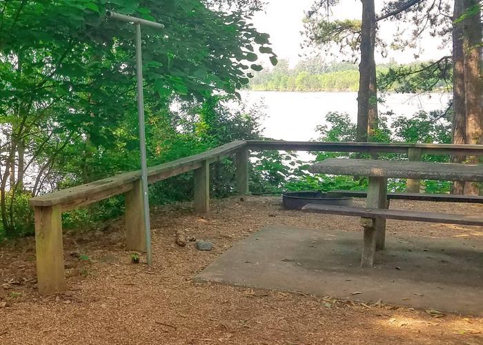 Campsite view.Victoria Campground, campsite 14.