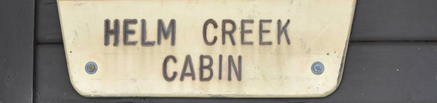 Helm Creek Sign